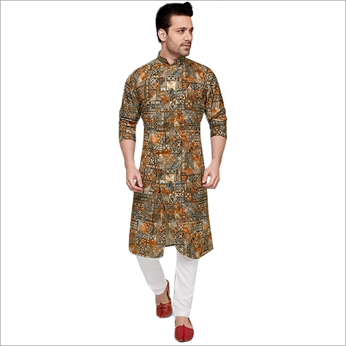 Mens Polyester Kurta Fabric