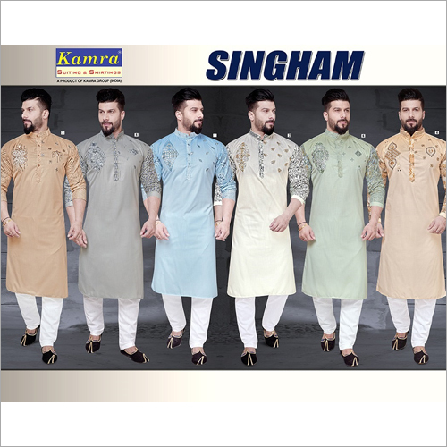 Mens Embroidered Unstitched Kurta Fabric