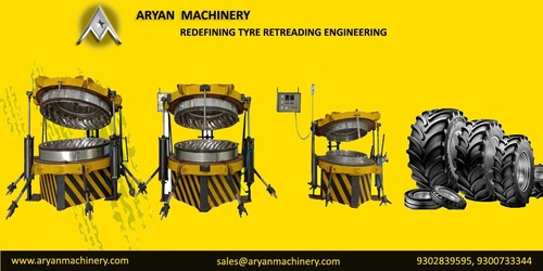 Tractor tyre retreading machine