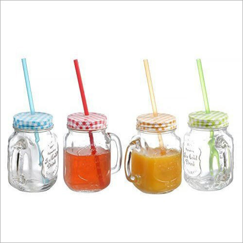 Straw Glass Jar