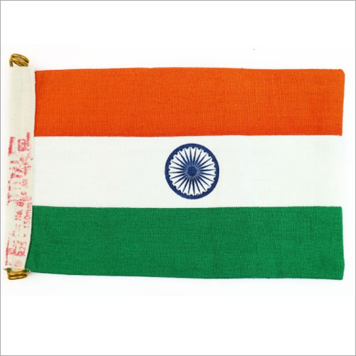 Khadi Cotton Indian Flag for Cars