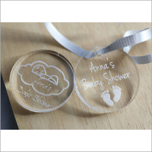 Baby Shower Acrylic Tags