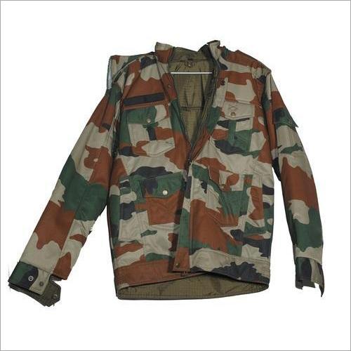 Camouflage Cotton Coat Reversible
