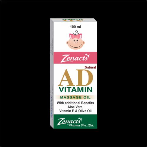 AD Vitamin Massage Oil With Additional Benefits Aloe Vera Vitamin E And Olive Oil