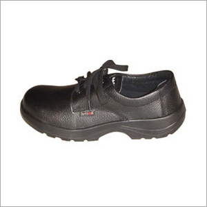 Action Milano Leather Black Safety Shoes