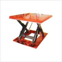 Orange Stationary Hydraulic Lift Table