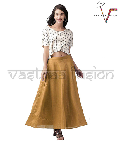 LADIES DESIGNER CHANDERI SKIRTS