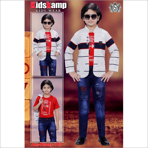 Boys Jacket With Jeans Set