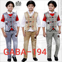 Boys Fancy Jacket With Jeans Set