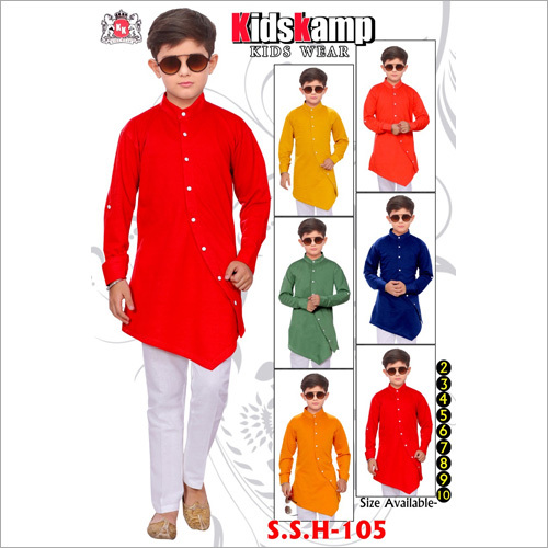 Boys Side Cut Kurta Set