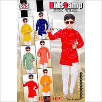 Boys Printed Side Cut Kurta Set