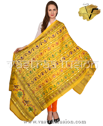 Traditional Aari Work Line Dupatta