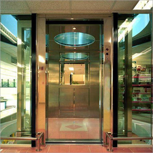 Commercial Hydraulic Glass Elevator