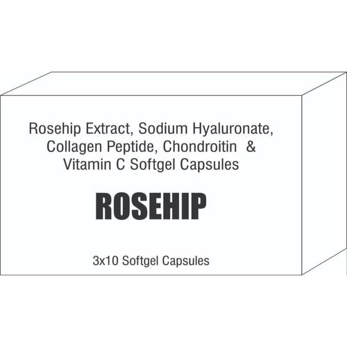 Rosehip Extract, Collagen Peptide With Vitamin C Softgel Capsules