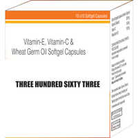 Vitamin-E Vitamin-C and Wheat Germ Oil Softgel Capsules