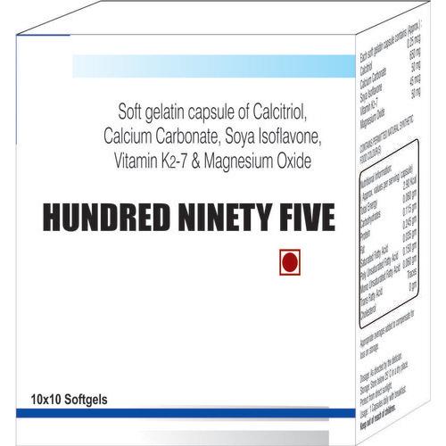 Soft Gelatin Capsule of Calcitriol Calcium Carbonate Soya Isoflavone Vitamin K2-7 and Magnesium Oxid