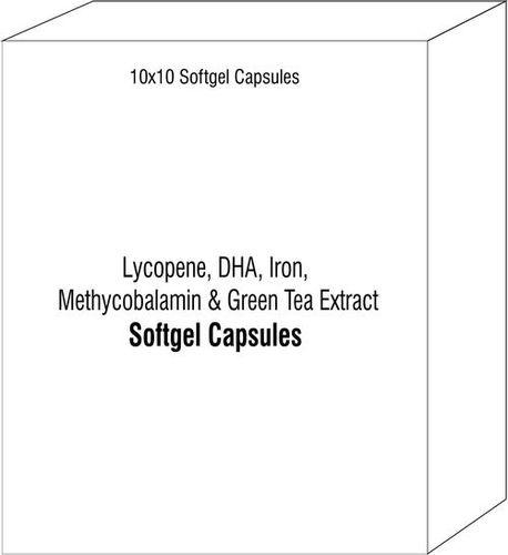 Softgel Capsules of Lycopene DHA Iron Methycobalamin Green Tea Extract