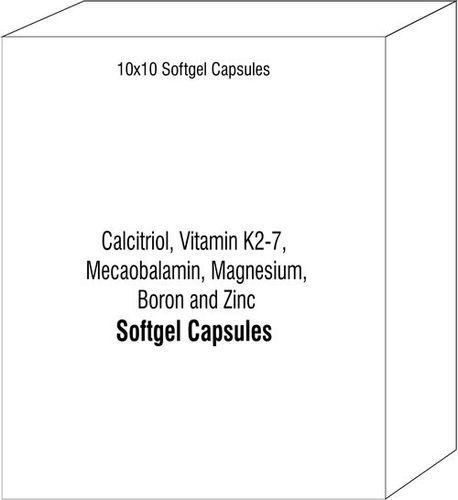 Calcitriol Vitamin K2-7 Mecaobalamin Magnesium Boron and Zinc Softgels