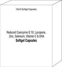 Reduced CoQ 10 Coenzyme Q 10 Lycopene Zinc Selenium Vitamin C DHA
