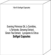 Evening Primrose Oil L-Carnitine L-Tartarate Ginseng Extract Green Tea Extract Lycopene Citrus