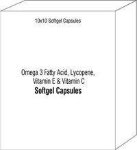 Omega 3 Fatty Acid Lycopene Vitamin E & Vitamin C Softgel Capsules Vitamin C Softgel Capsules