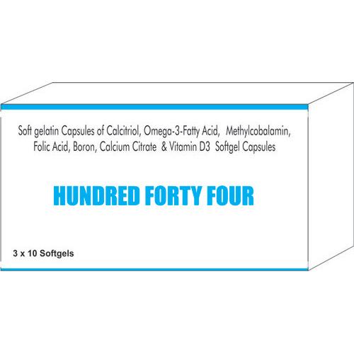 Soft Gelatin Capsules Of Calcitriol Omega-3 Fatty Acid Methylcobalamin Folic Acid Boron Calcium