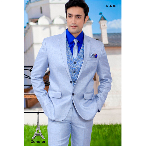 Mens Party Wear Three Piece Suit