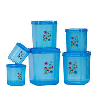 Floral Print Plastic Container Set