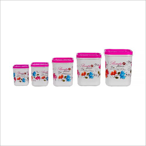 Printed Plastic Square Container Set