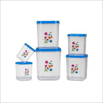 Floral Print Polypropylene Container Set