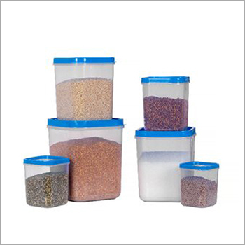 Transparent Plastic Storage Container Set