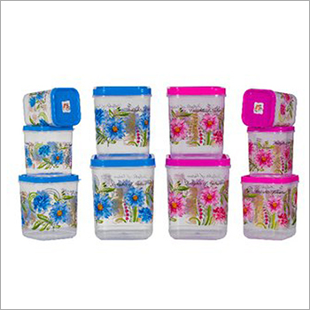 Flower Print Kitchen Container Set