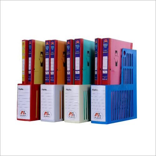 Plastic Vertical Magazine File Rack