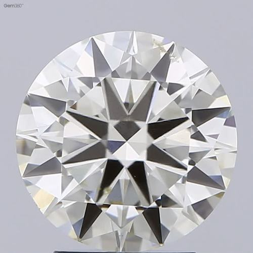 3.00ct K SI1 Round Brilliant Cut Diamond HRD Certified Stone TYPE2A