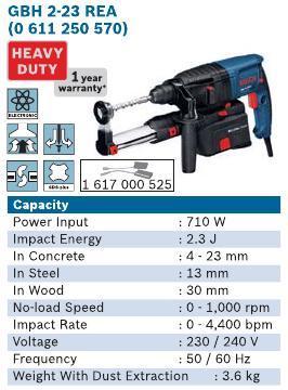 710 Watt 2 KG Rotary Hammer
