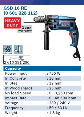 750 Watt Impact Drill