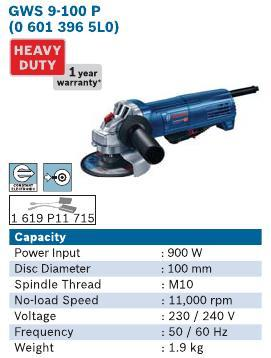 900 Watt Straight Grinder