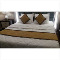 Plain Bed Runners and Cushion Covers