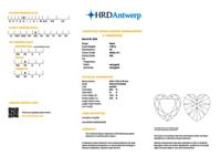 1.02ct H VS2 Heart shape Diamond HRD Certified Stone TYPE2A
