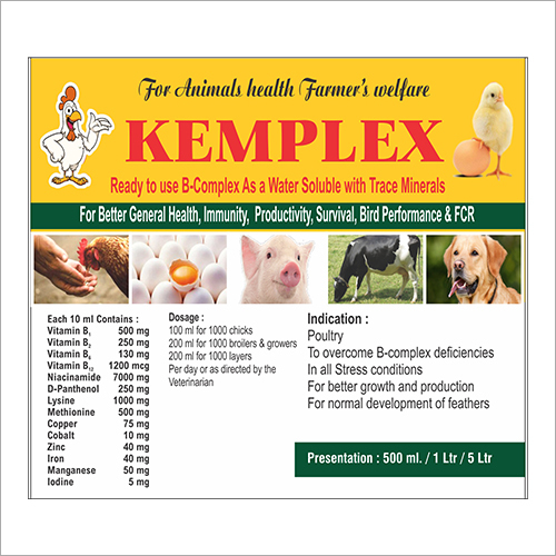 B-Complex Water Soluble With Trace Minerals For Animals
