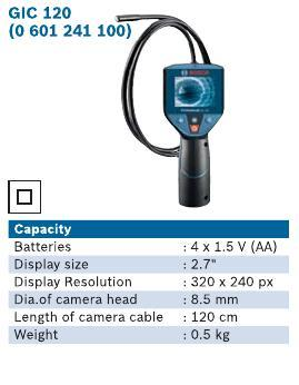 GIC120 Cordless Inspection Camera
