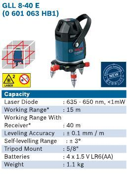 GLL8-40E Electronic Line Laser