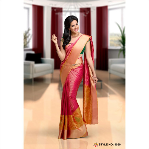 Fancy Silk Ikkat Saree