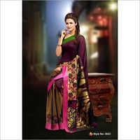 Ladies Silk Ikkat Saree