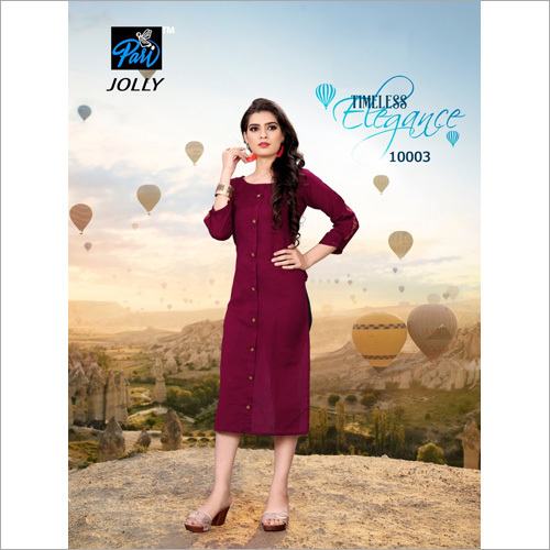 Ladies Plain Fancy Kurti