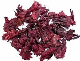 Dry Hibiscus Flowers And Leaves