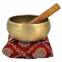 Brass Tibetan Singing Bowl Hammered Space Purification & Sound Healing - 4inch