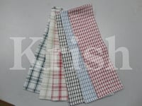 Honey Comb Kitchen Towels - Small Checks