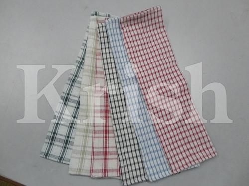 Honey Comb Kitchen Towels - Small Checks