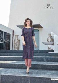 Weaving Strips Pant Rayon Slub Lycra